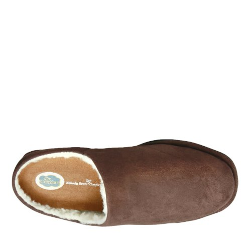 Dr.Comfort Mens Easy Therapeutic Slippers Chocolate HDE30xxT
