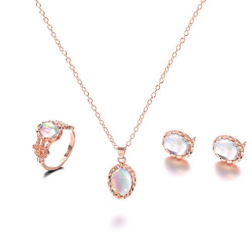 Sinfu 1 Set Fashion Silver Gold Choker Chunky Chain Bib Necklace Women Jewelry Pendant Earings Ring (One Size, Multicolor) ()