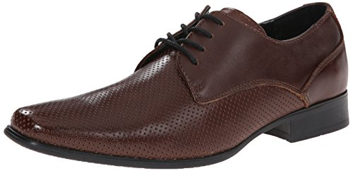 (Calvin Klein Men's Brodie Oxford Shoe Slip-On Loafer, Brown Perf Leather, 10.5 M US)