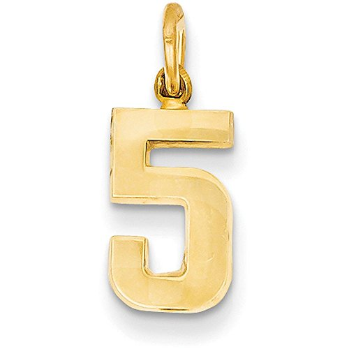 number pendant gold - 6