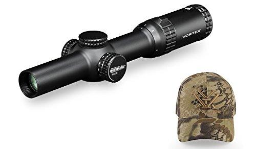 Vortex Optics Strike Eagle 1-6x24 Rifle Scope AR-BDC Reticle (MOA) SE-1624-1 with FREE Vortex Kryptek Highlander Ball Cap
