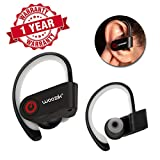 True Wireless Earbuds, Woozik Relay Bluetooth 5.0 Headphones, Waterproof Sport TWS Headset, Stereo Earphones with Microphone, Long Playtime for Gym Running and Workouts for iOS Android