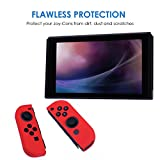 HDE Silicone Joy-Con Cover for Nintendo Switch Anti-Slip Protective Skin Non-Adhesive Comfort Grip Controller Case (Red)