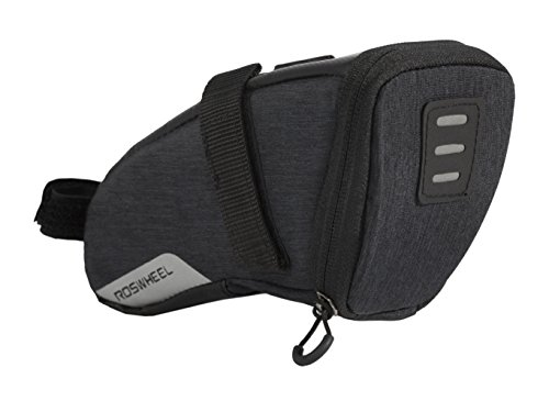 Roswheel Essentials Series 131470 Water Resistant Bike Saddle Bag Bicycle Under Seat Pouch for Cycling Accessories