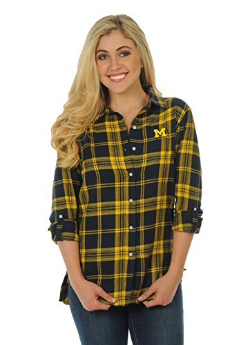 UG Apparel NCAA Michigan Wolverines Women's Boyfriend Plaid