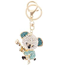 Koala Pink Bear Tree Charm Cute Pendant Crystal Purse Bag Keyring Key Chain Gift