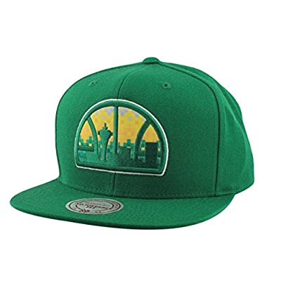 Mitchell Ness Easy Three Digital XL Snapback Seattle Supersonics