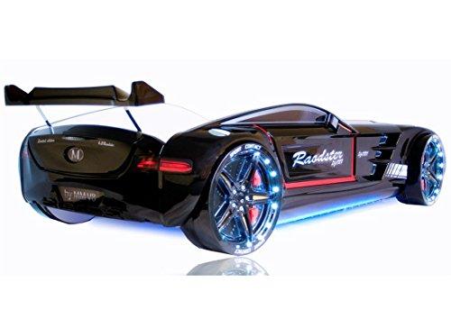 Autobett Roadster 90x190 cm inklusive Fernbedienung, Sound- und Lichteffekten (schwarz)