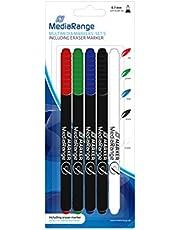MediaRange Multimedia Markerset, mit Löschstift, 5er Set