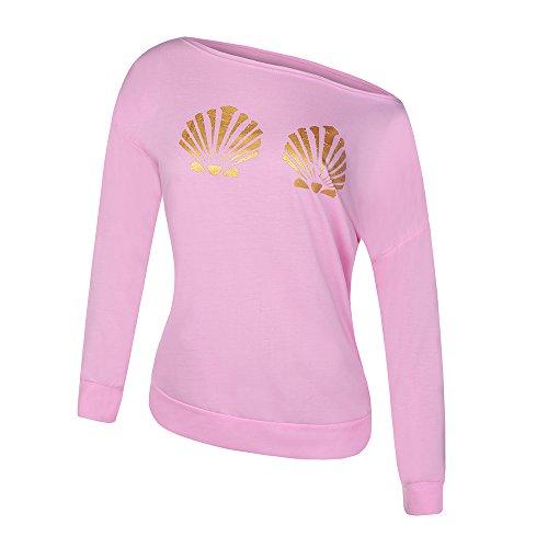 Ybenlow Mermaid Slouchy Pullover Sweatshirt