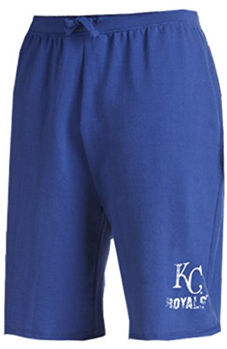 (Majestic Kansas City Royals MLB Mens Cotton Shorts Royal Blue Big & Tall Sizes (4XL))