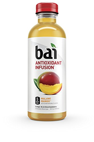 Bai Malawi Mango, Antioxidant Infused, Flavored Water Drink, 18 Fluid Ounce Bottles, 12 count