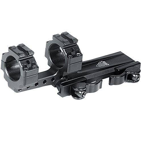 UTG Integral 1' Offset QD Ring Mount, 2 Top Slots, 100mmBase