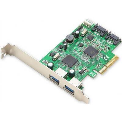 Syba SD-PEX50055 Combo USB 3.0 + SATA III 6Gbps v2.0 PCI Express x4 Slot Controller Card with Standard and Low Profile Brackets (Pci Floppy Controller)