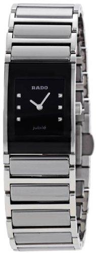Rado Women's R20786759 Integral Black Ceramic Bracelet Watch - Integral Ceramic