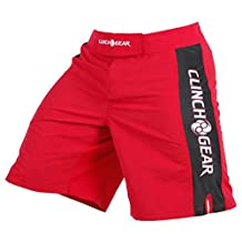 CLINCH GEAR - Pro Series - MMA Shorts * WOD Shorts * Fight Shorts Red/Black/White 28