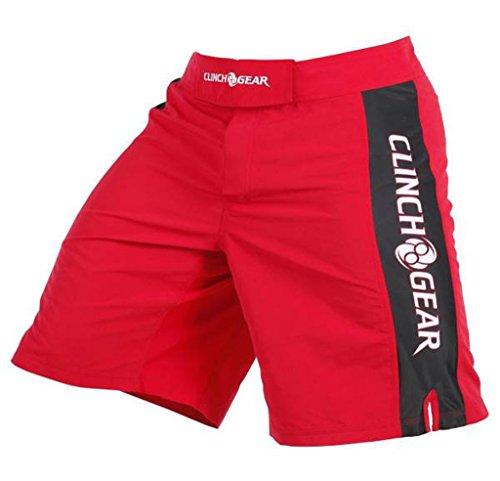 CLINCH GEAR - Pro Series - MMA Shorts * WOD Shorts * Fight Shorts Red/Black/White 40 (Shorts White Mma)