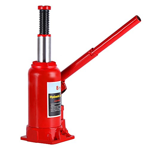 Hydraulic Bottle Jack, 8 Ton Capacity Red Portable Heavy Duty Hydraulic Jack Automotive Lifter for Car Caravan Tractors Truck by Yosooo (Image #1)