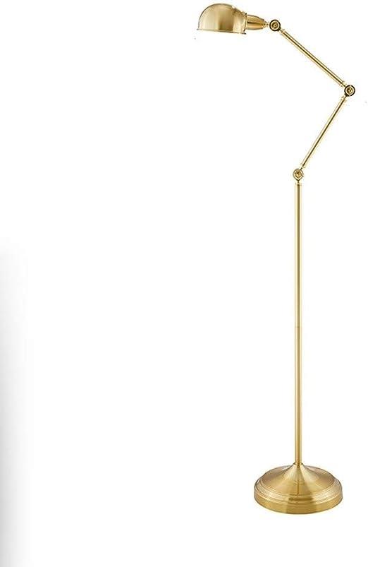 Bzsm Lámpara de pie Hierro Forjado Lámpara de pie Ajustable Brazo Vertical de la Sala LED