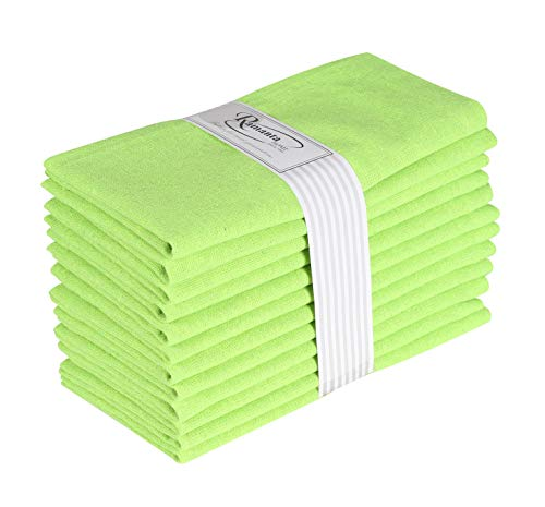 (Cotton Dinner Napkins 12 Pack (18x18 Inches) Forest Green, 100% Cotton, Tailored with Mitered Corners and a Generous 1