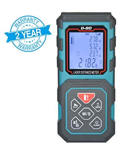 (MAKINGTEC Laser Measure 270Ft Laser Tape Measure whit Multi Function Laser Measuring Device, Pythagorean Mode Area and Volume measurement, Laser Distance Measure LD-100R)