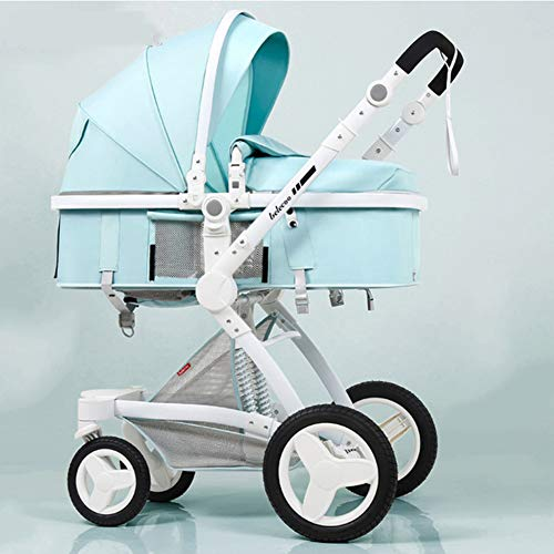 C-Qing 3 in 1 Luxury Baby Stroller with Car Seat High Landscape Pram for Newborns Travel System Baby Trolley Walker Foldable Carriage,D
