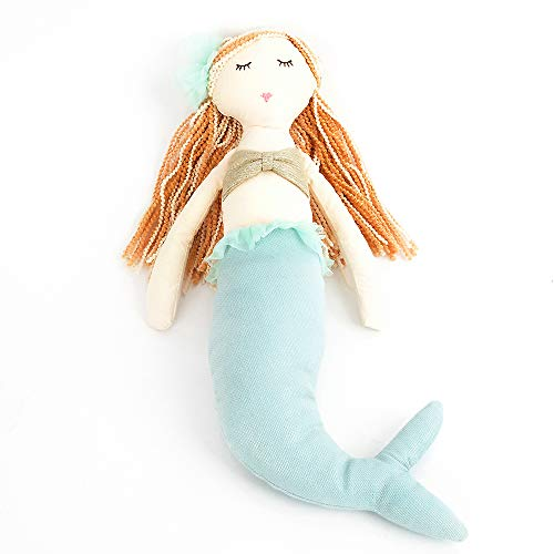 Mon Ami 15IN Mermaid Designer Plush Doll, Aqua, 15