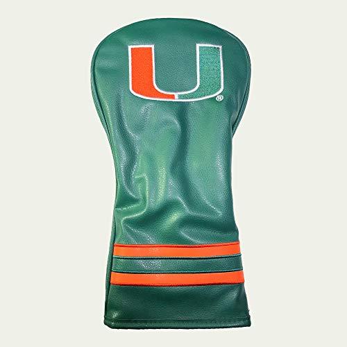 Team Golf NCAA Miami Hurricanes Vintage Driver Golf Club Headcover, Form Fitting Design, Retro Design & Superb Embroidery