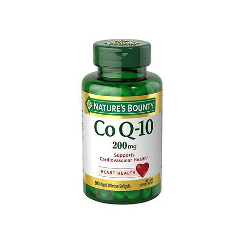 Nature's Bounty Co Q-10 200 mg Rapid Release Softgels Supports Cadiovascular Health 80 Ea (Pack of 5)