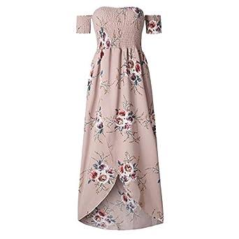 38284d8d5ec4 Long Party Dress Women Sexy Off Shoulder Beach Maxi Dress Summer Strapless  Khaki