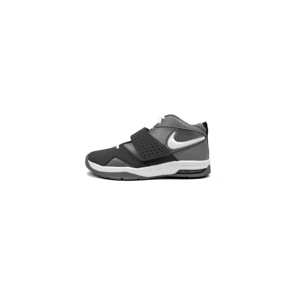 Nike Air Legacy 3 GS Grey White Black Velcro Youth Basketball Shoes 472677002 [US size 7]