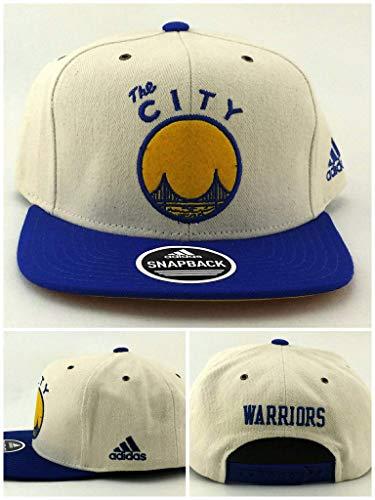 adidas Golden State Warriors ST New The City Bridge Ivory White Blue Gold Era Snapback Hat ()