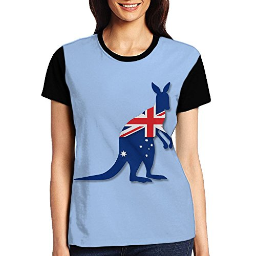 Ioekal Flag Of Australia With Kangaroo Womens Elastic Short Sleeve - Suits Australia Tri