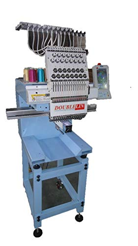- NEW,compact embroidery machine, single head, 15 needles, New Style, Cap, T-shirt, no interfere area, less problems, 5-year parts warranty