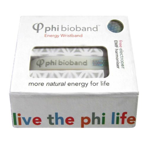 Phi-Harmonics Bio Band Personal Energy Field Harmoniser (Medium) with FREE ElectroDOT- Protects against electromagnetic radiation, Relief from regular headaches and tension, Feel energised, focused and revitalised, more energy, greater concentration, better sleep. by Phi-Harmonics