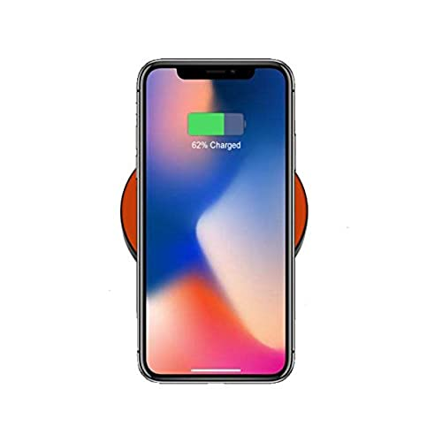 60%OFF iSmartGo QI Wireless Charger, Ultra-Slim Round Wireless Charging Pad for Apple iPhone X/8/8Plus, Samsung Galaxy Note 8, S9/S9+/S8/S8 Plus/S7/S7 Edge, Xiaomi Mix 2S, Nokia 8 Sirocco (Orange)