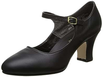 Capezio Women's Manhattan Character Shoe,Black,4 M US