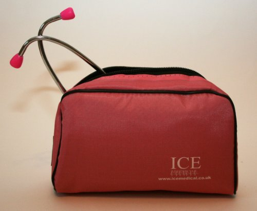 Pink Stethoscope Dual Head in Pink Bag by ICE Medical
