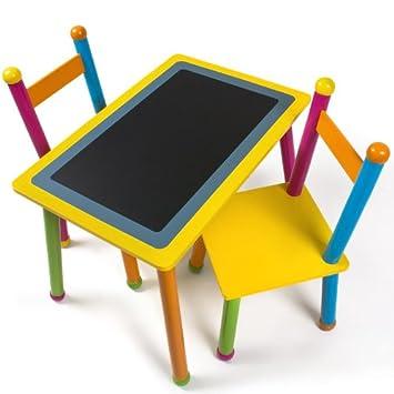 Superior Relaxdays Kindertisch Mit Tafel Und 2 Stühlen Aus Holz Design Ideas