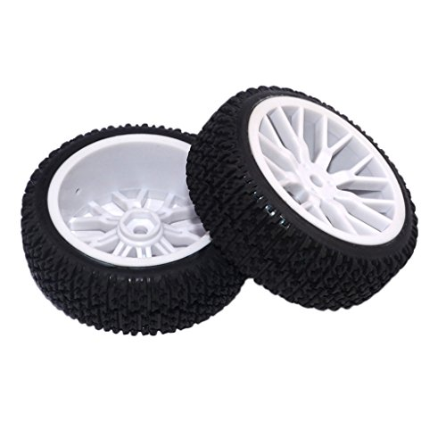 MagiDeal 2pcs 1/16 Tire Off-road Tires Buggy Tyre Pull Rally Wheel for HPI HSP Hobao Savage ZDRacing LRP Wltoy