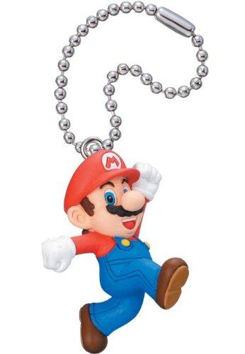 New Super Mario Bros. 2 Mascot Key Chain Figure Tomy - Mario
