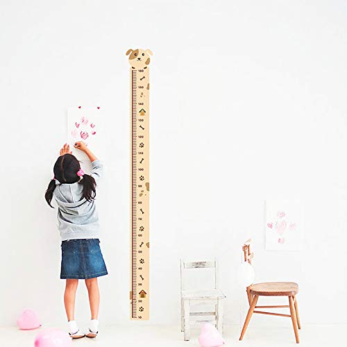 (EWQHD Dog Growth Chart Decorative Wall Stickers for Nursery Kids Room Decorations Home PVC Height Measure Decals Mural Decor Wall Art)