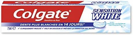 Pasta de dientes blanqueadora COLGATE Sensation, dientes más blancos en 14 días 75 ml: Amazon.es