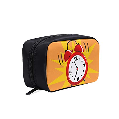 Alarm Clock Wake-up Time Portable Travel Makeup Cosmetic Bags Organizer Multifunction Case Small Toiletry Bags For Women And Men Brushes Case