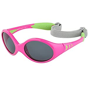Duco Baby Sunglasses for Baby & Toddler, Strap and Case Included, Ages 0-2 K012