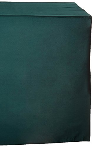 LinenTablecloth 6 ft. Fitted Polyester Tablecloth Hunter Green (Tablecloth Fitted 6' Polyester)