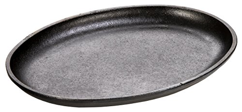 Lodge Cast Iron 10 x 7.5 Inch Handleless Oval Serving Griddle