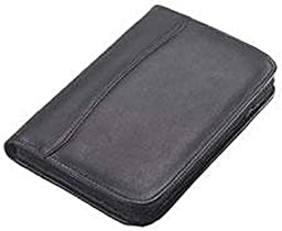 Clava Leather Junior Zippered Padfolio Blue