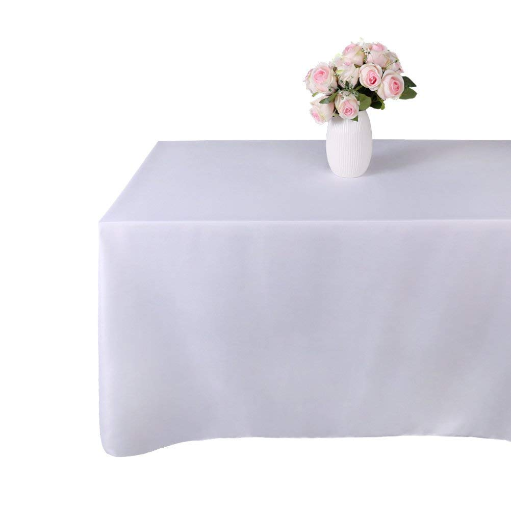 inch Ivory Polyester Tablecloth GFCC 90 x 132