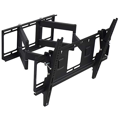Iusun TV Wall Mount Bracket for 32''-65'' LED LCD Plasma TVs Full Motion Swivel Articulating Extension StudsHeavy Duty Steel Construction 110LBS Loading VESA75x75-600x400mm- Ship From USA (Black)